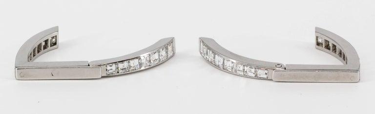 Diamond and White Gold Triangle Wrap-Around Cufflinks For Sale 1