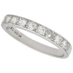 Diamond and White Golf Half Eternity Ring