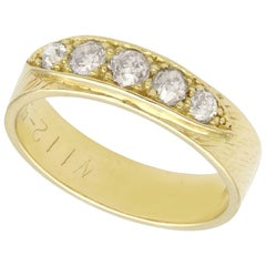 Diamond and Yellow Gold Cocktail Ring