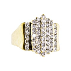 Diamond and Yellow Gold Contemporary Ring