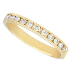 Diamond and Yellow Gold Half Eternity Ring