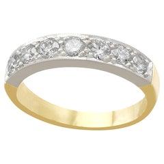 Diamond and Yellow Gold Platinum Set Half Eternity Ring