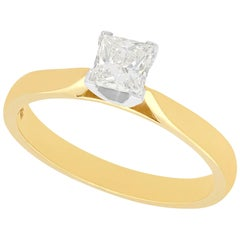 Diamond and Yellow Gold Solitaire Engagement Ring, circa 2000