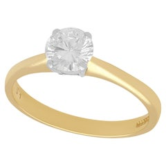 Diamond and Yellow Gold Solitaire Engagement Ring