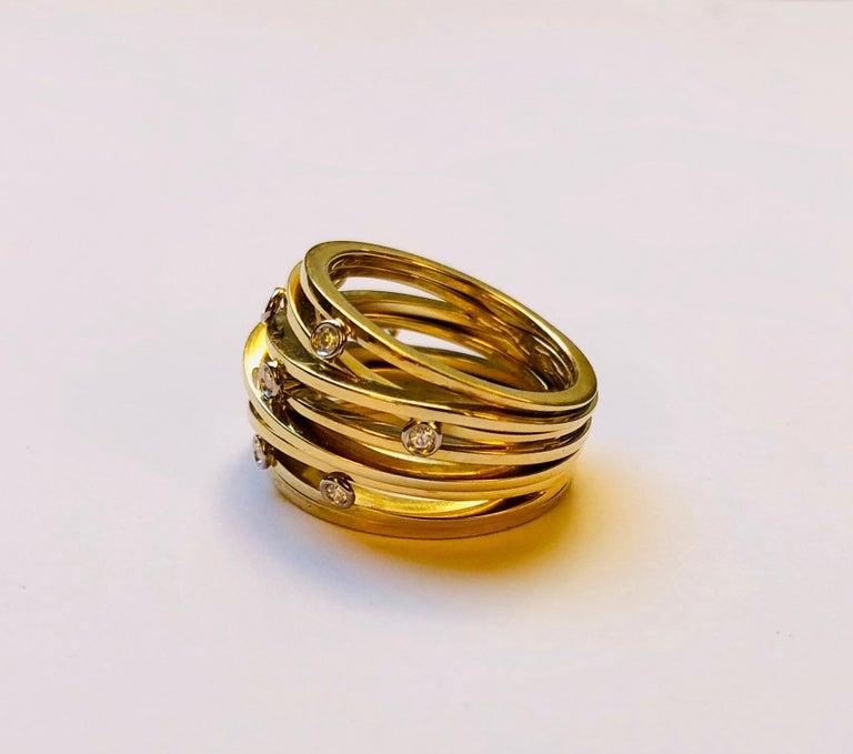 Diamond and Yellow Gold Van der Veken Varens Ring In New Condition For Sale In Antwerpen, BE