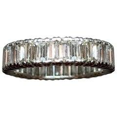 Diamond Baguette 3.09 Carat VS Anniversary Wedding Eternity Band Engagement Ring