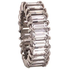 Diamond Baguette Platinum Eternity Band 6.01 Carat