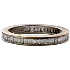 Diamond Baguette Platinum Eternity Ring Band