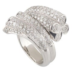 Diamond Bamboo Style Ring 2.44 Carat