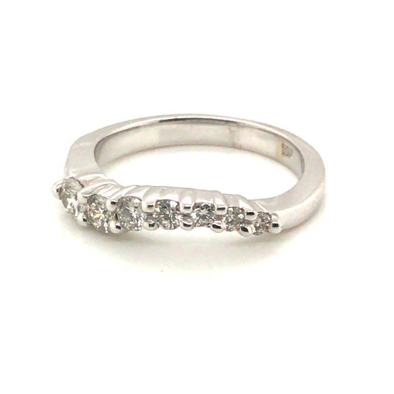 Women's Diamond Band Fashion Ring with 14 Karat Gold For Sale