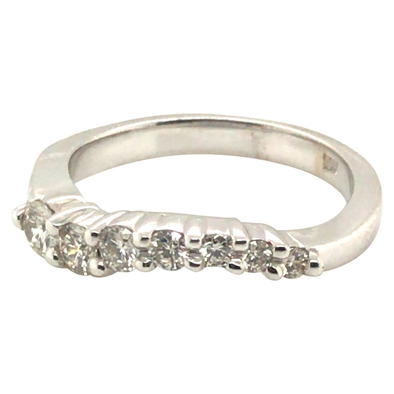 Diamond Band Fashion Ring with 14 Karat Gold For Sale