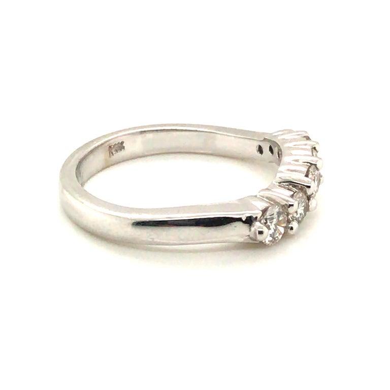 Modern Diamond Band Fashion Ring with 14 Karat Gold For Sale