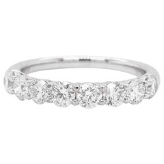 Diamond Band Ring, 1.11 Carat Round Diamond, Wedding Band, Stackable