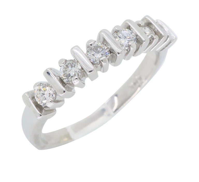 Diamond Band Ring In New Condition For Sale In Webster, NY