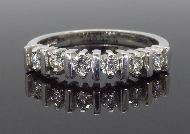 Women's or Men's Diamond Band Ring For Sale