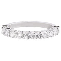 Diamond Band Ring in 18 Karat White Gold