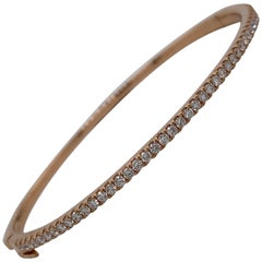 HARBOR D. Diamond Bangle Bracelet 0.85 Carat 18 Karat Rose Gold