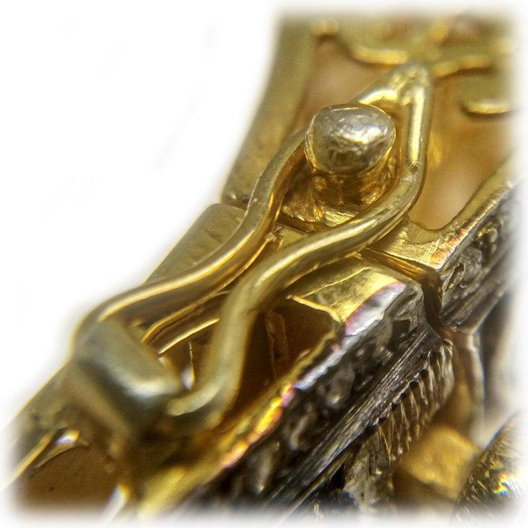 Round Cut 8.50 Carats Fancy Cut Diamond Mughal Style Bangle Bracelet For Sale