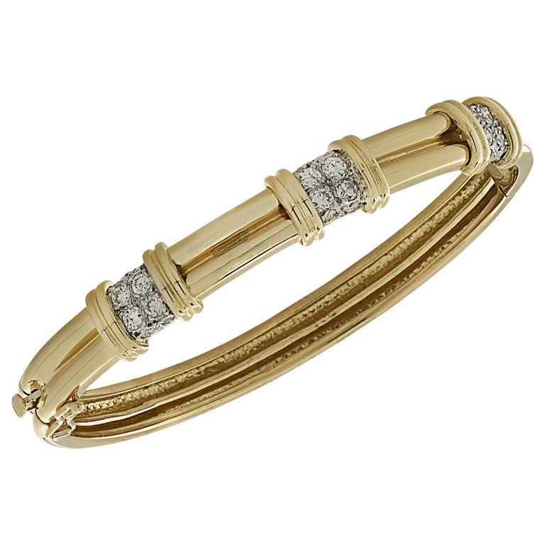 Diamond Bangle Bracelet For Sale