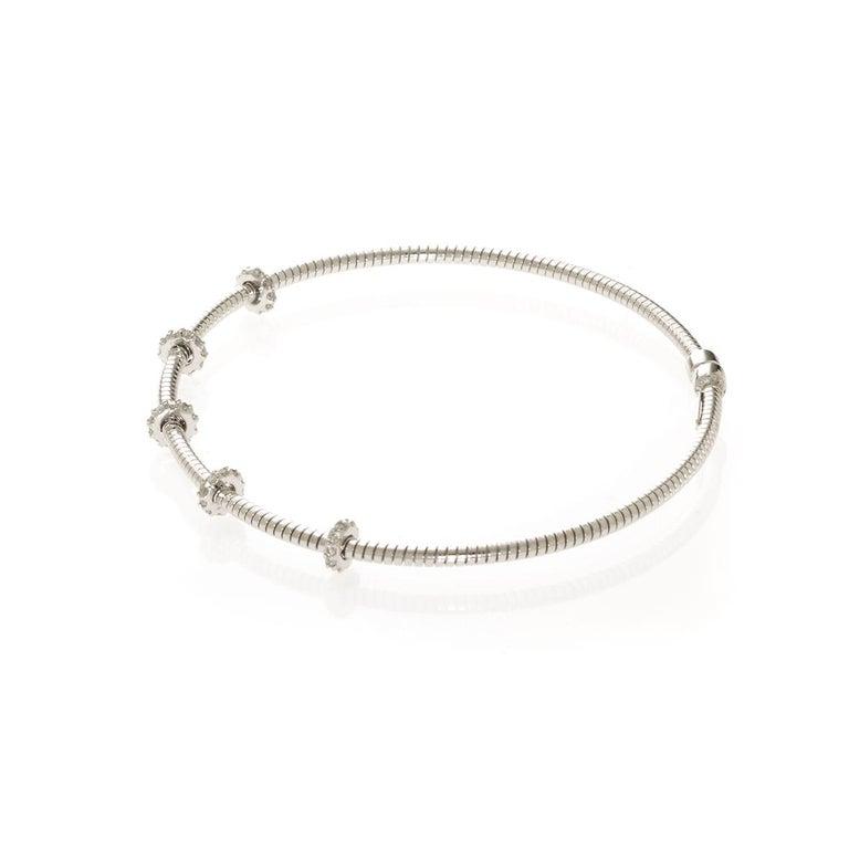 Women's or Men's Diamond Bar Bracelet For Sale