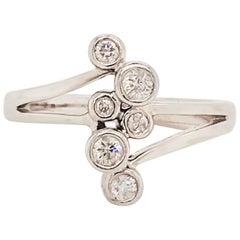 Diamond Bezel Fashion Ring 14 Karat Gold 1/4 Carat '.25 Ct' Diamond Bubble Ring