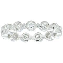 Diamond Bezel Set Alternate Ring