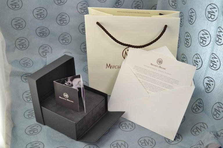 Women's or Men's Diamond Black Diamond 18 Karat White Gold Onyx Cufflinks For Sale