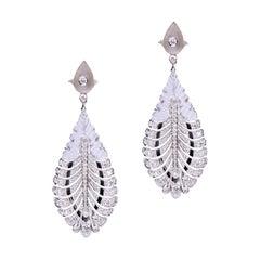 Diamond Black Enamel Crystal Enamel Earring