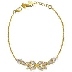 Diamond Bloom Bracelet in 18 Karat Gold