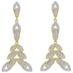 Diamond Bloom Earrings in 18 Karat Gold