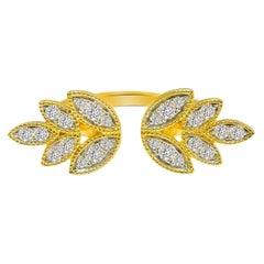 Diamond Bloom Open Ring in 18 Karat Gold
