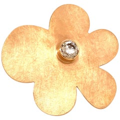 "Georg Spreng - ""Diamond Blossom Ring"" 18 Karat Rose Gold with Diamond 0.63 Carat"