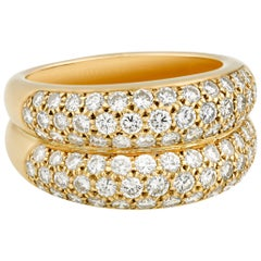 Diamond Bombe Ring by Cartier