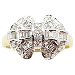 Diamond Bow Ring Set in 18 Karat Gold Settings