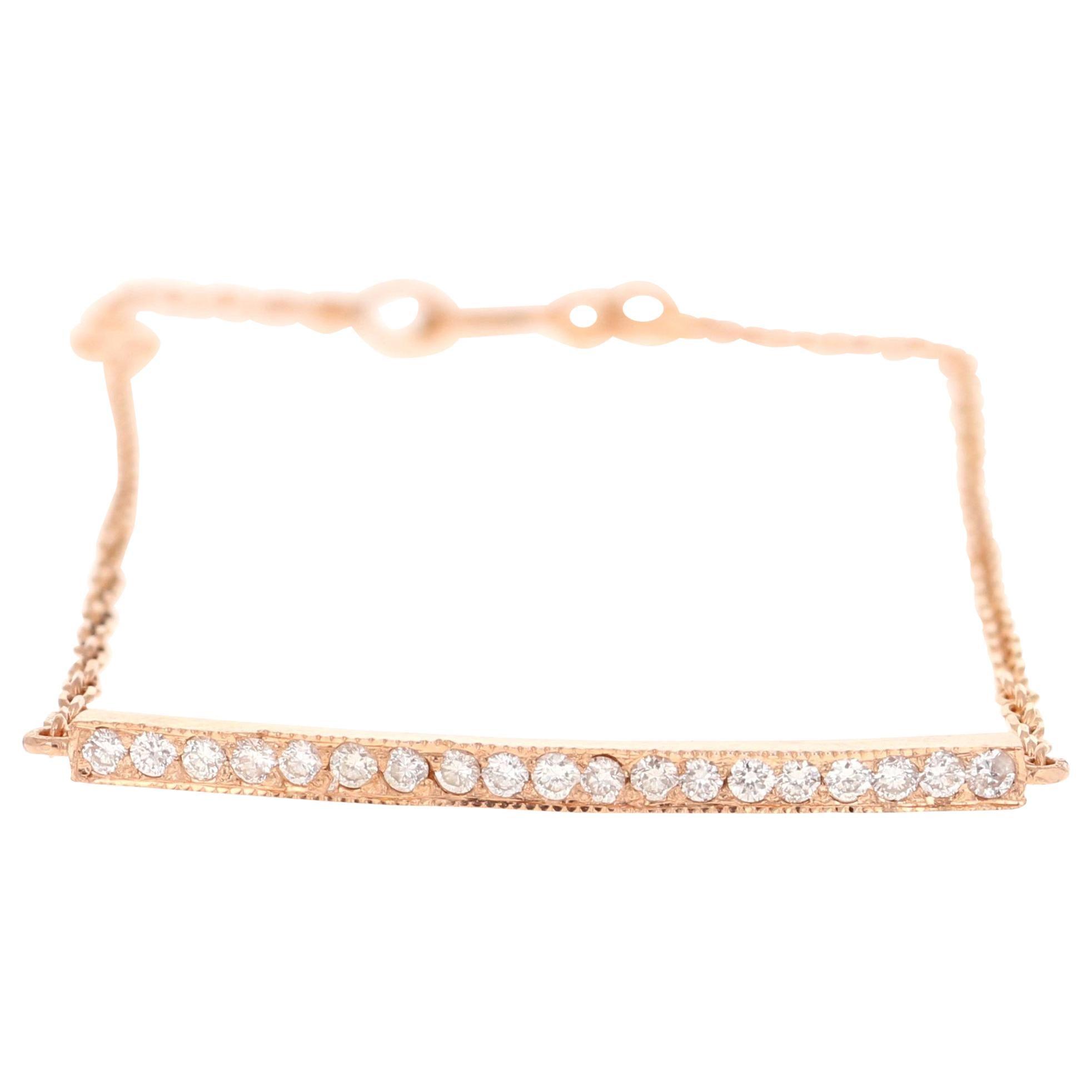 Diamond Bracelet 14 Karat Rose Gold