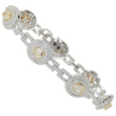 Diamond Bracelet 7.42 Carat in 18 Karat White Gold