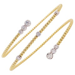 Diamond Bracelet Flexible Fashion Bracelet 14K Yellow Gold Half Carat Diamond