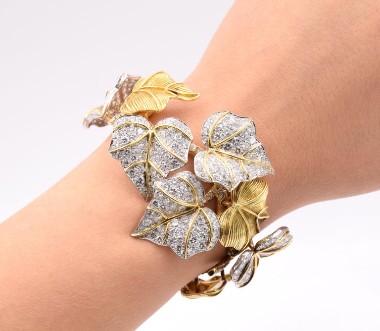 Artist Diamond Bracelet For Sale