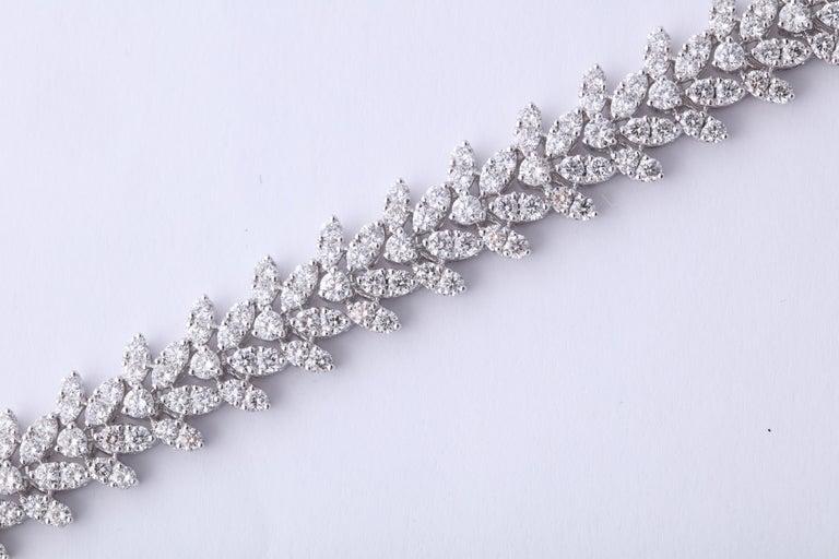 Women's or Men's Diamond Bracelet For Sale