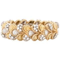 Diamond Bracelet in 18 Karat Yellow Gold and Platinum