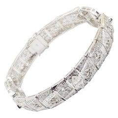 Diamond Bracelet Set in 18 Karat White Gold Settings