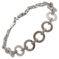 Diamond Bracelet with 0.45 Carat Brilliant Cut Diamonds in White Gold