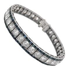 Diamond Bracelet with Sapphire