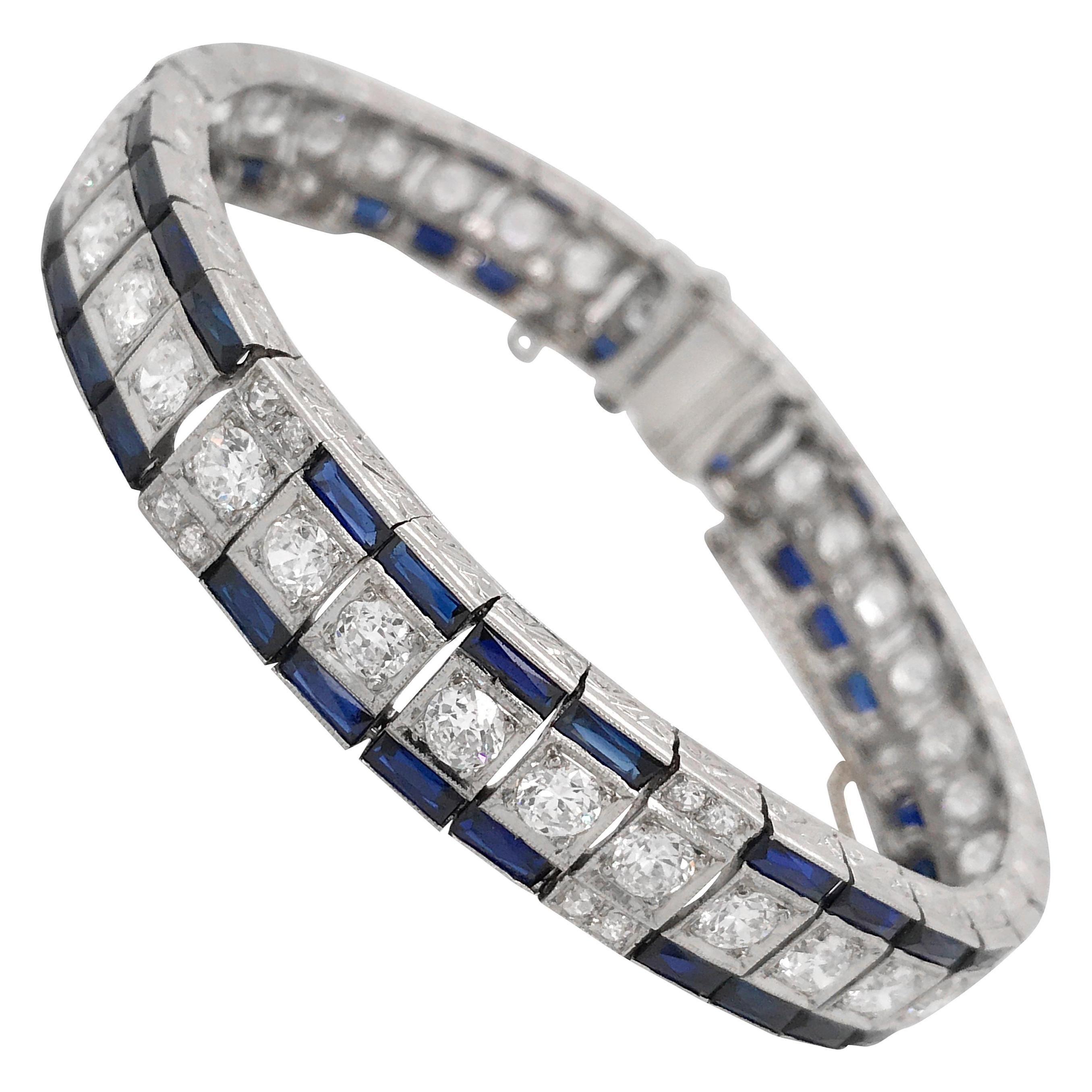 Diamond Bracelet with Sapphire, Tiffany & Co.