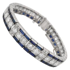 Diamond Bracelet with Sapphire, Tiffany & Co.