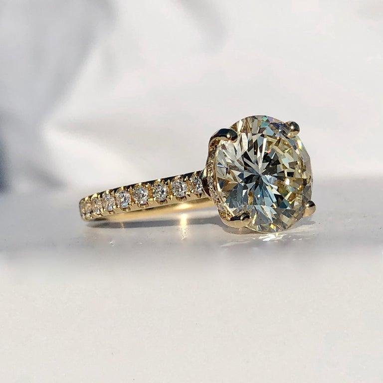 Diamond Brilliant Cut Solitaire Diamond Engagement Ring G.I.A M Colour 4.97ct TW For Sale 1