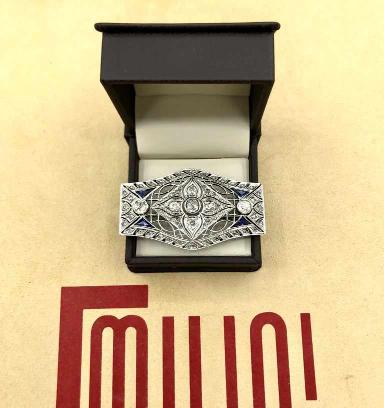 Diamond Brooch In Excellent Condition For Sale In New York, NY