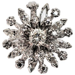 Diamond Burst Brooch Pendant