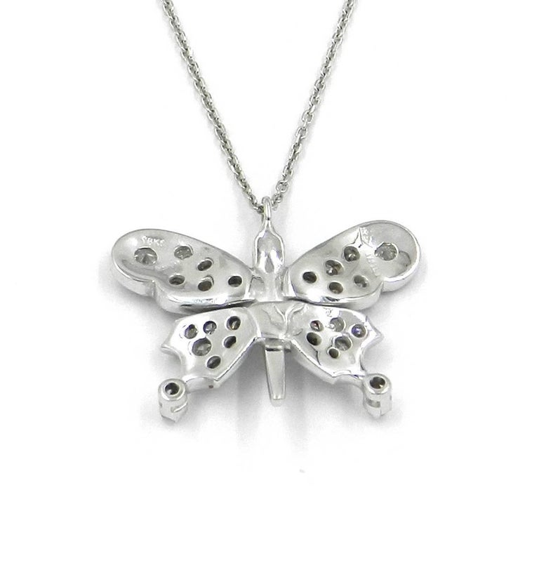 Diamond Butterfly Garavelli Pendant in 18 Karat Gold In New Condition For Sale In Valenza, IT