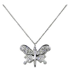 Diamond Butterfly Garavelli Pendant in 18 Karat Gold